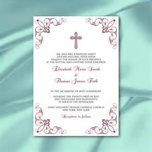 catholic wedding ceremony program catholic wedding invitation template diy wine
