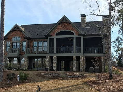 lake oconee home  reynolds traditional lakehouse
