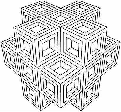 Geometric Coloring Pages Printable Adults Everfreecoloring Easy