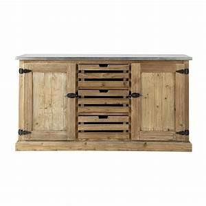 buffet en bois recycle l 160 cm pagnol maisons du monde With maison du monde buffet