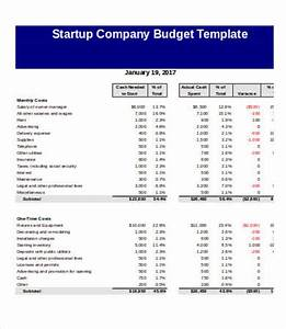 company budget template 5 free excel pdf documents With budget template for startup business