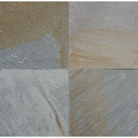 quartzite floor tiles ms international golden harvest 12 in x 12 in natural quartzite floor and wall tile 5 sq ft