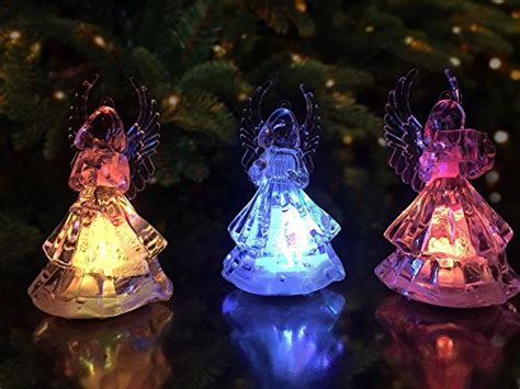 Lighted Christmas Angel Figures   3 LED Color Changing