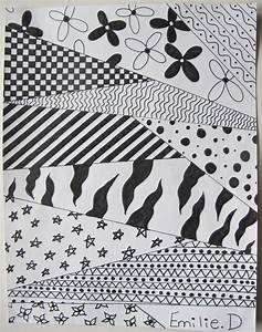 Simple Black And White Patterns To Draw