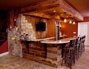Rustic Finished Basement / Bar Man cave Pinterest