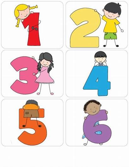 Numbers Learning Flashcards Preschool Clipart Kid Math