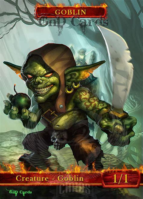goblin  custom altered tokens mtg  goblin