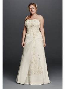 Satin a line plus size wedding dress with corset david39s for A line corset wedding dress