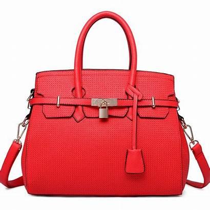 Handbag Plain Padlock Boston Lulu Miss