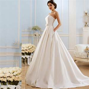popular satin bridal buttons buy cheap satin bridal With a line wedding dresses 2017