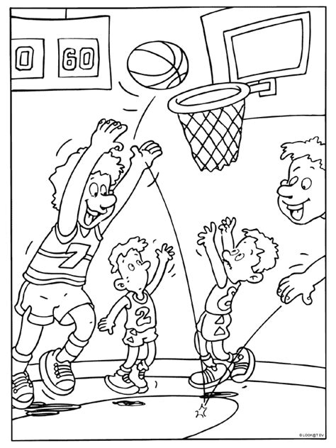 Kleurplaat Basketbal by Kleurplaat Basketballen Doelpunt Kleurplaten Nl