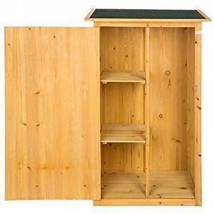 tectake armoire de jardin remise pour outils abri d With remise en bois pour jardin