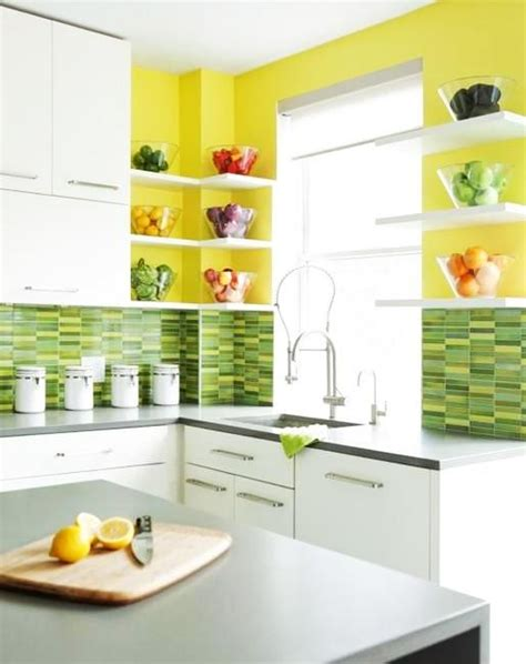 yellow tiles kitchen 20 modern kitchens decorated in yellow and green colors 1224