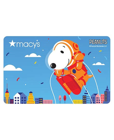 If you're a macy's cardholder, you can enroll in the star rewards program outlined above. Macy's Peanuts Parade Balloon E-Gift Card & Reviews - Gift Cards - Macy's