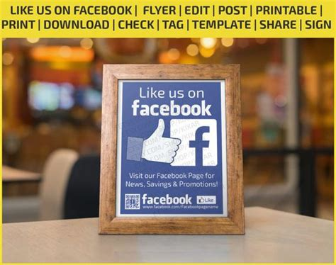 Like us on facebook/ flyer / edit / post / printable ...
