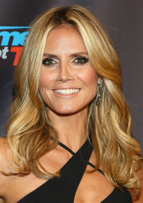heidi klum long wavy cut long hairstyles lookbook