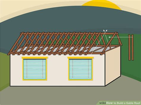 how to build a gable roof how to build a gable roof with pictures wikihow