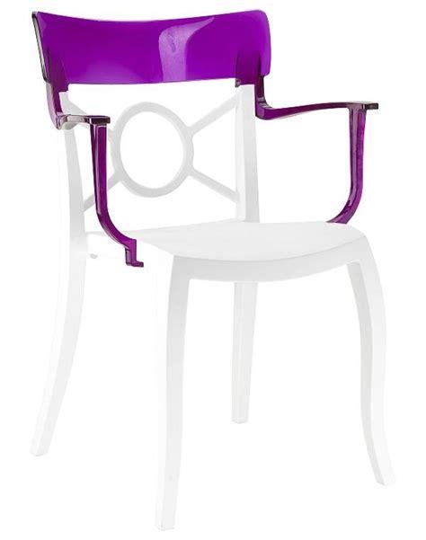 chaise de couleur en plastique chaise moderne en plastique de couleur avec accoudoirs