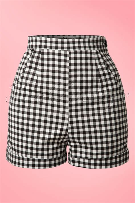 Gingham Shorts 50s gingham shorts in black