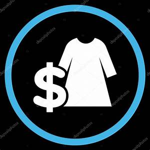 Dress Price Flat Rounded Vector Icon — Stock Vektor ...