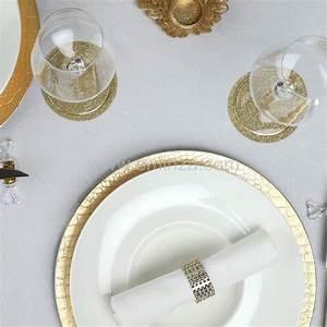 Lot D Assiette : lot de 12 dessous d 39 assiette craquel e or d coration pour la table eminza ~ Teatrodelosmanantiales.com Idées de Décoration
