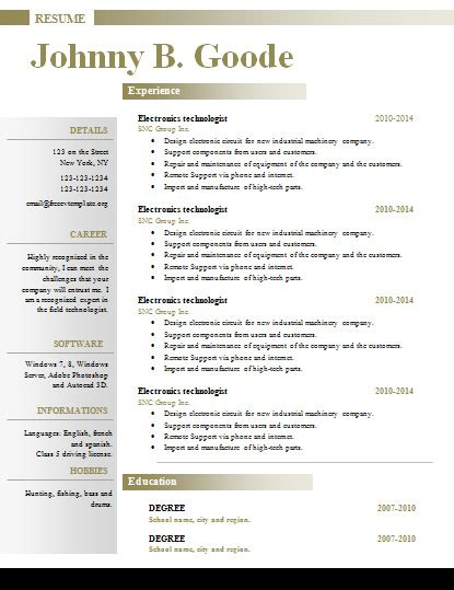Where To Get Free Resume Templates by Free Resume Cv Templates 353 To 359 Get A Free Cv