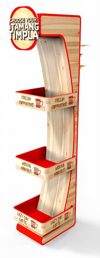 Display Coffee Sell Stand Nescafe Hang Pop