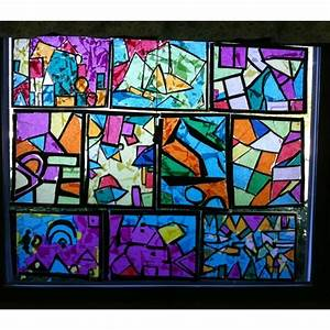 Fun and easy stained glass windows. I had my students use ...