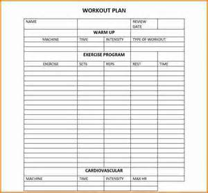 Workout Plan Template Excel 5 Workout Plan Template Divorce Document