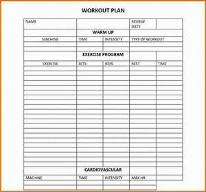 daily workout calendar 2018 template excel word pdf With fitness program template free download