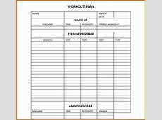 6 workout planner template Divorce Document