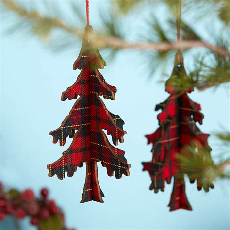 tartan christmas tree decoration   christmas home