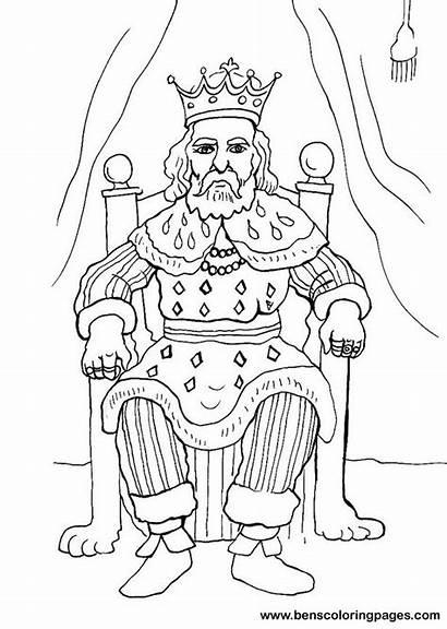King Coloring Pages Rey Trono El Para