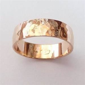 men rose gold wedding band hammered wedding ring 6mm wide With mens hammered wedding ring