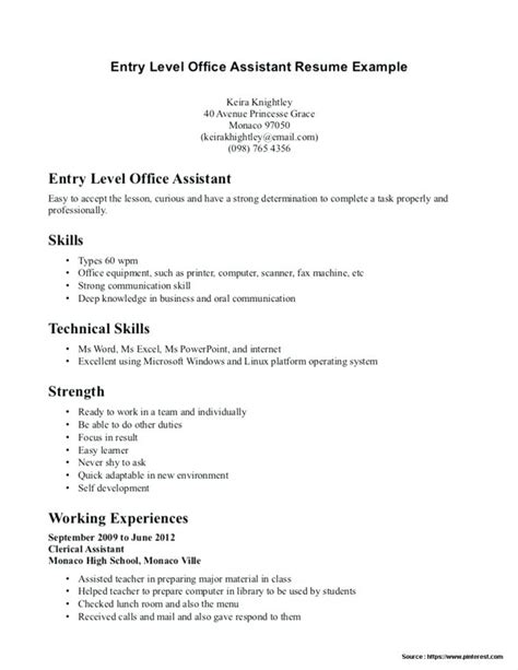 Entry Level Officer Resume by 15 Entry Level It Resume With No Experience Paystub Format
