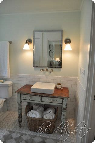 southern bathroom ideas southern living 2012 idea house old table reposed bathroom sink reclaimed to fame pinterest