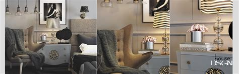 A Modern Deco Home Visualized In Two Styles by A Modern Deco Home Visualized In Two Styles