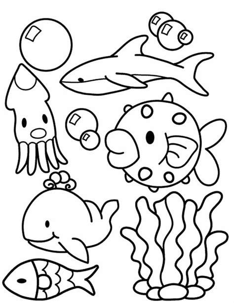 Onderwaterdieren Kleurplaten by Kleuren Nu Onderwater Collage Kleurplaten
