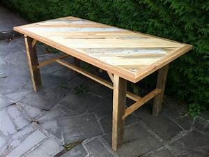 Table En Palette : fabrication d 39 une table solide avec du bois de ~ Melissatoandfro.com Idées de Décoration