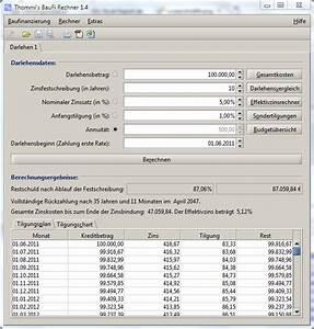 Darlehensbetrag Berechnen : funktionen hilfe und screenshots zum baufinanzierungsrechner ~ Themetempest.com Abrechnung