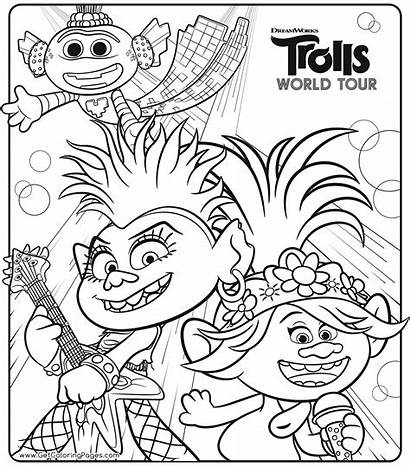 Trolls Coloring Tour Colouring