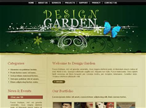 design garden free website template free css templates