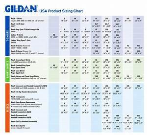 Gildan Youth Size Chart Gildan Sizing Chart