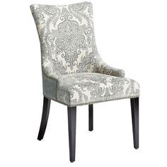 Hourglass Dining Chair Smoke Blue Damask by Hourglass Dining Chair Smoke Blue Damask Pier 1