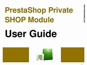 Prestashop Private Shop Module User Guide