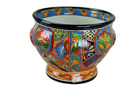 Mexican Pot by Large Painted Talavera Planter Pot Home Accessories