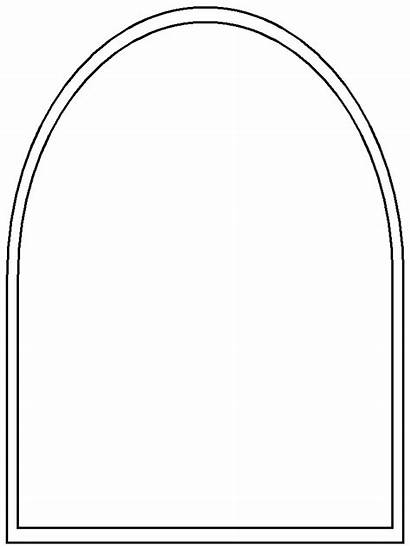 Window Template Stained Glass Coloring Printable Windows