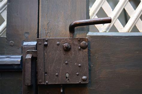 picture front door metal locks security antique