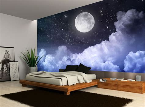 Wall Murals Sky by Details About Sky Moon Clouds Wall Mural
