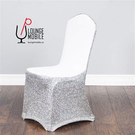 housse de chaise lycra housse de chaise lycra blanc avec brillants argent